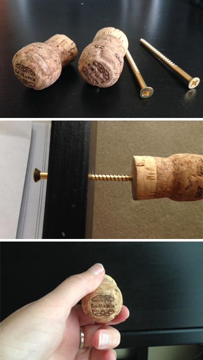How to Make Drawer Handles from Recycled Champagne Corks