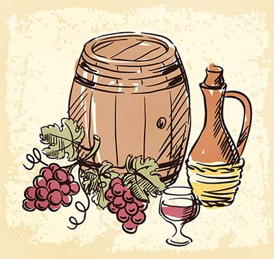 Barrel of Italian Wine