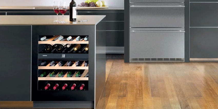 Luxury Wine Cooler in Kitchen